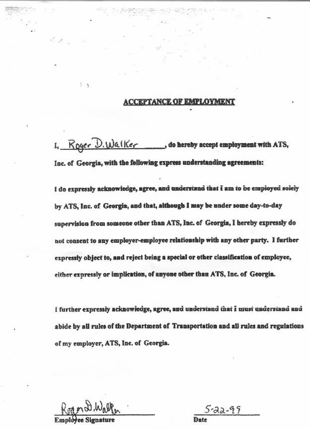 Acceptance Letter For Employment  Employment Acceptance Letter
